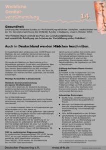 Auch in Deutschland werden Mädchen beschnitten